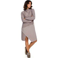 Szara Asymetryczna Sukienka z Golfem. Szare sukienki asymetryczne marki Mohito, l, z asymetrycznym kołnierzem. Za 145,90 zł.