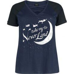 Piotruś Pan Take Me To Neverland Koszulka damska ciemnoniebieski/czarny. Czarne bluzki asymetryczne Piotruś Pan, xl, z nadrukiem. Za 99,90 zł.