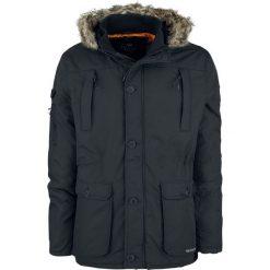Crosshatch Killblake Kurtka zimowa czarny. Szare kurtki męskie zimowe marki Crosshatch, z nadrukiem. Za 244,90 zł.