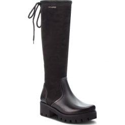 Kozaki EVA MINGE - Jerez 4G 18SM1372488EF 601. Czarne buty zimowe damskie Eva Minge, ze skóry, na obcasie. W wyprzedaży za 439,00 zł.