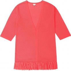 Kardigan kaszmirowy w kolorze koralowym. Czerwone kardigany damskie marki Ateliers de la Maille, z kaszmiru. W wyprzedaży za 591,95 zł.