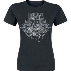 Johnny Cash Eagle Koszulka damska czarny. Czarne bluzki damskie Johnny Cash, l, z nadrukiem, z okrągłym kołnierzem. Za 74,90 zł.
