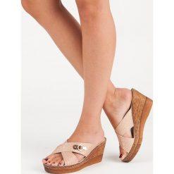 VINCEZA różowe klapki na koturnie vinceza. Czerwone buty ślubne damskie marki Vinceza, na koturnie. Za 109,00 zł.
