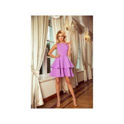 SUKIENKA ROZKLOSZOWANA RAFAELLO FIOLET. Różowe sukienki na komunię marki Dressroad, na co dzień, l, z materiału, proste. Za 107,70 zł.