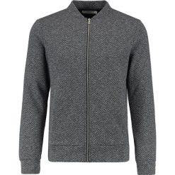 Swetry męskie: Jack & Jones JPRWALLET ZIP BASBALL NECK Kardigan dark grey melange