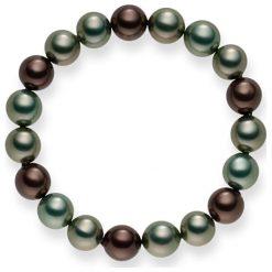 Bransoletki damskie: Bransoletka w kolorze oliwkowo-nefrytowo-jasnobrązowym