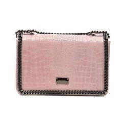 Torebki klasyczne damskie: Skórzana torebka w kolorze różowym – (S)20 x (W)30 x (G)8 cm