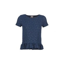 T-shirty z krótkim rękawem Vero Moda  JAPANIA TOP. Niebieskie t-shirty damskie marki Vero Moda, z bawełny. Za 119,20 zł.