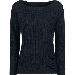 Forplay Destroyed Sweater Bluza damska czarny. Czarne bluzy rozpinane damskie Forplay, xxl. Za 114,90 zł.