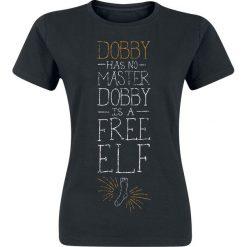 Bluzki asymetryczne: Harry Potter Dobby Koszulka damska czarny