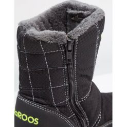 Buty zimowe chłopięce: KangaROOS PUDDLE Śniegowce jet black/lime