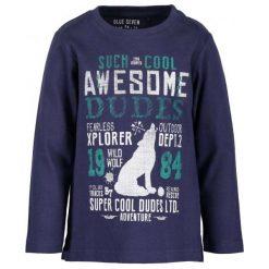 Blue Seven T-Shirt Chłopięcy Z Napisami 122 Niebieski. Niebieskie t-shirty chłopięce z nadrukiem Blue Seven, z bawełny. Za 49,00 zł.