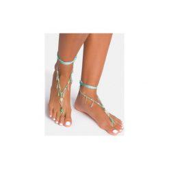 Bransoletki damskie: Zielona bransoletka na stopę Big Leaf