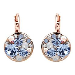 Kolczyki damskie: Pozłacane kolczyki z kryształkami Swarovski