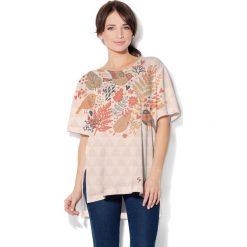 Colour Pleasure Koszulka damska CP-033 254 beżowo-brązowa r. uniwersalny. Brązowe bluzki damskie Colour pleasure, uniwersalny. Za 76,57 zł.