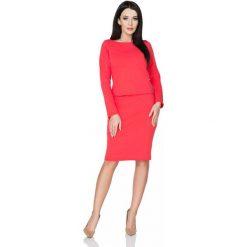 Bluzy damskie: Czerwona Klasyczna Uniwersalna Bluza z Dzianiny