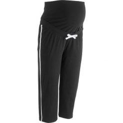 Rybaczki ciążowe dresowe bonprix czarny. Czarne spodnie dresowe damskie marki bonprix, w paski, z dresówki. Za 54,99 zł.