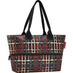 Shopper bag damskie: Torba z kolorowym wzorem na zakupy – 50 x 26,5 x 16 cm