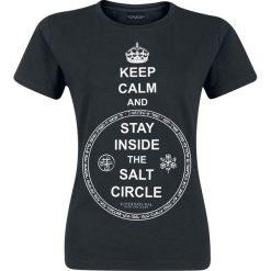 Supernatural Keep Calm Koszulka damska czarny. Czarne bluzki z odkrytymi ramionami Supernatural, l, z nadrukiem, z dekoltem w łódkę. Za 74,90 zł.