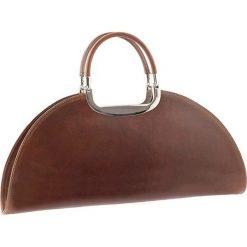 Torebki klasyczne damskie: Skórzana torebka w kolorze brązowym – 41 x 17 x 10 cm
