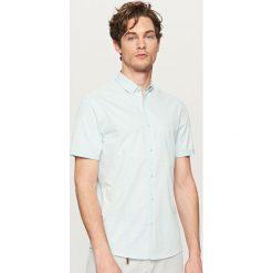 Odzież męska: Koszula w drobną kratkę – Turkusowy