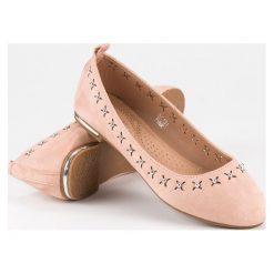 Baleriny damskie lakierowane: Eleganckie baleriny Nio Nio różowe