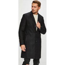Calvin Klein - Płaszcz. Czarne płaszcze na zamek męskie marki Calvin Klein, z bawełny, klasyczne. Za 1399,00 zł.