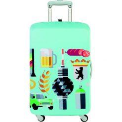 Pokrowiec na walizkę LOQI Hey Berlin. Zielone walizki marki LOQI, z elastanu. Za 114,00 zł.