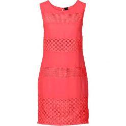 Sukienki: Sukienka z koronkowymi wstawkami bonprix koralowy