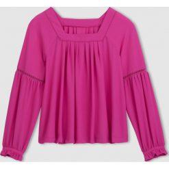 Bluzki asymetryczne: Folkowa bluzka z kwadratowym dekoltem