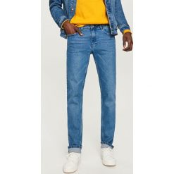 Rurki męskie: Jeansowe spodnie slim fit – Granatowy