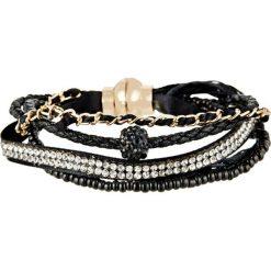 Bransoletki damskie na nogę: Bransoletka z kryształkami Swarovski w kolorze czarnym
