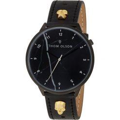 Thom Olson - Zegarek. Czarne zegarki damskie THOM OLSON, szklane. W wyprzedaży za 349,90 zł.