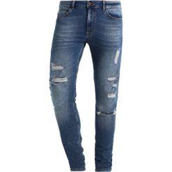 YOURTURN Jeansy Slim Fit dark blue denim. Niebieskie jeansy męskie relaxed fit YOURTURN, z bawełny. Za 159,00 zł.