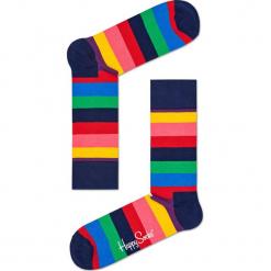 Happy Socks - Skarpetki Stripe. Różowe skarpetki damskie Happy Socks, z bawełny. Za 34,90 zł.