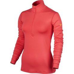 Bluzy rozpinane damskie: Nike Bluza damska Pro Warm Top LS HZ pomarańczowa r. L (803145 850)