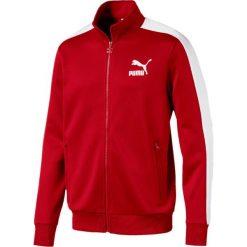 Bluza dresowa. Czerwone kardigany męskie Puma, l, z bawełny, sportowe. Za 327,56 zł.