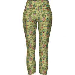 Legginsy we wzory: Legginsy w kolorze zielonym