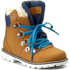 Buty zimowe chłopięce: Trapery MIDO – 368 Żółto Niebieski