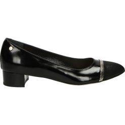 Czółenka - 80532 NER-ORO. Czarne buty ślubne damskie Venezia, ze skóry. Za 199,00 zł.