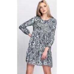 Szaro-Niebieska Sukienka Multiple. Niebieskie sukienki hiszpanki Born2be, na lato, m, mini. Za 59,99 zł.