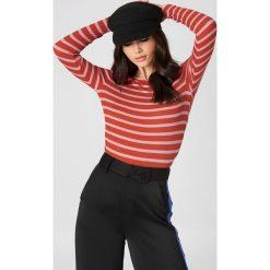 T-shirty damskie: Second Female T-shirt z długim rękawem Laura – Red,Multicolor