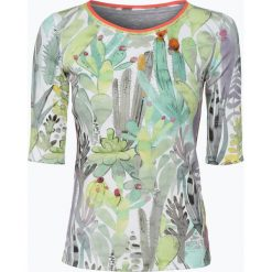 Marc Cain Collections - T-shirt damski, niebieski. Niebieskie t-shirty damskie Marc Cain Collections, s, w prążki, z dżerseju. Za 299,95 zł.