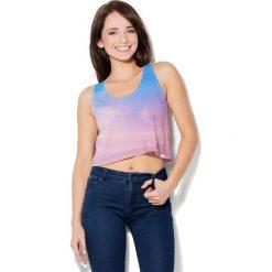 Colour Pleasure Koszulka damska CP-035 42 różowo-niebieska r. XXXL-XXXXL. Czerwone bluzki damskie marki Colour pleasure. Za 64,14 zł.