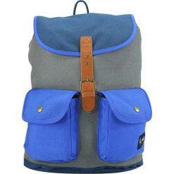 Plecaki męskie: Plecak w kolorze niebiesko-szarym – 40 x 31 x 16 cm