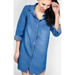 Tuniki damskie: Dluga koszula jeans tunika