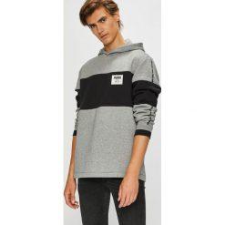 Puma - Bluza. Szare bluzy męskie rozpinane Puma, l, z nadrukiem, z bawełny, z kapturem. Za 269,90 zł.