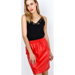 Spódniczki: Czerwona spódnica ołówkowa