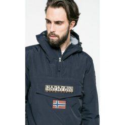 Napapijri - Kurtka. Szare kurtki męskie marki Napapijri, l, z materiału, z kapturem. W wyprzedaży za 639,90 zł.