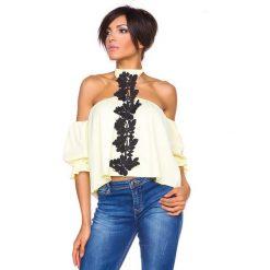 """T-shirty damskie: Koszulka """"Honolulu"""" w kolorze jasnożółtym"""